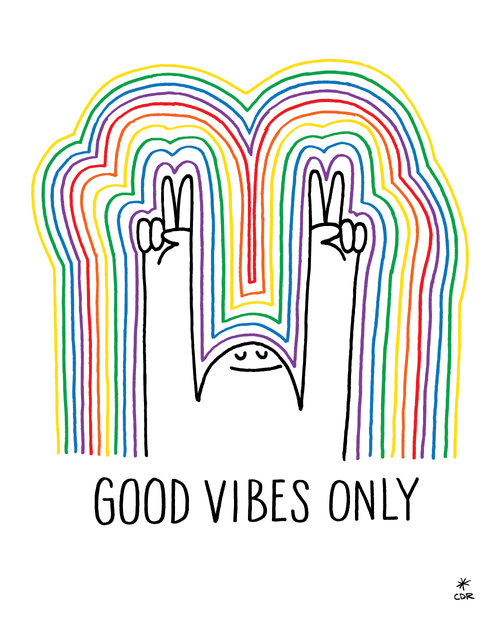 good vibes print good vibe prints posters christopher david ryan