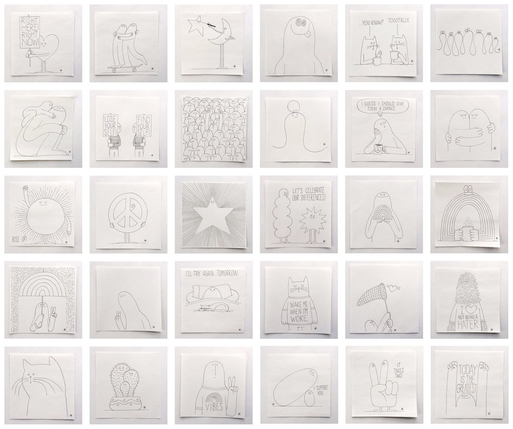 New Originals - One-Of-A-Kind Ink Drawings