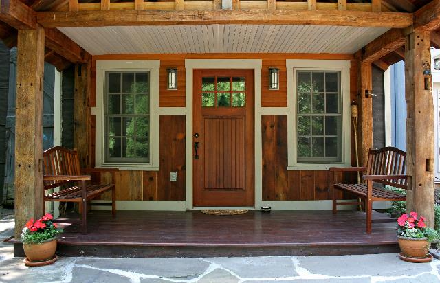 Adirondack style porch