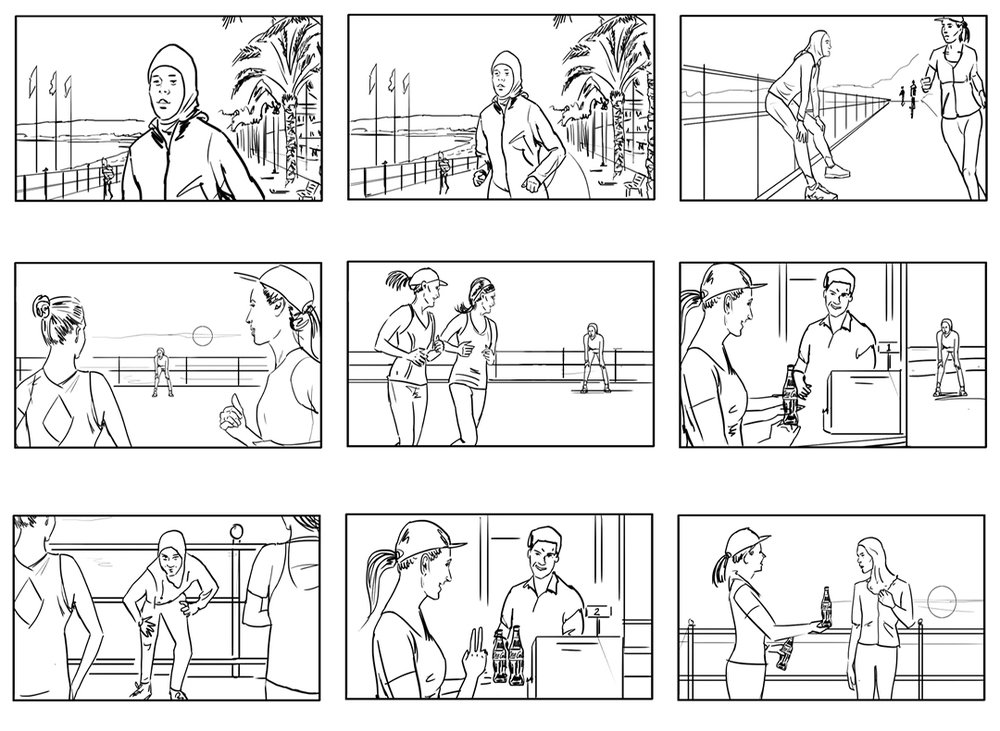 storyboard visualisation for coca cola
