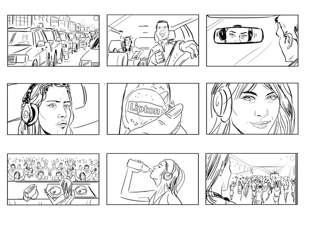 storyboard visualisation artist for lipton tea