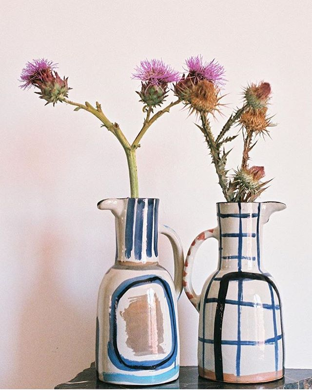 Love the hand painted ceramics by @lrnce  #ceramics #art #butterflyapp