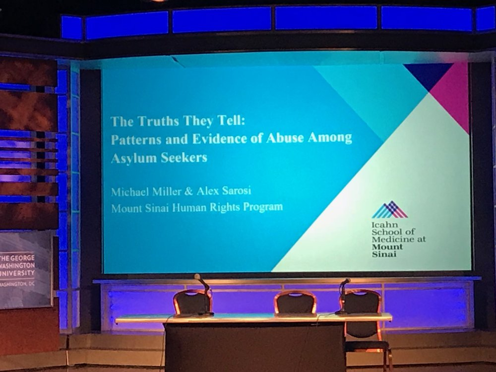 Michael Miller and Alex Sarosi presented at The National Consortium of Torture Treatment Programs Research Symposium 2019 in Washington, D.C.