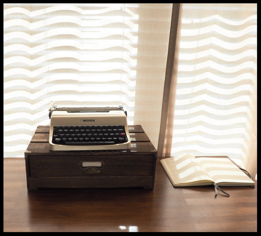 The gold, refurbished Olivetti Lettera 32 that I just couldn't resist. . - Photo: Jaclyn DeVore