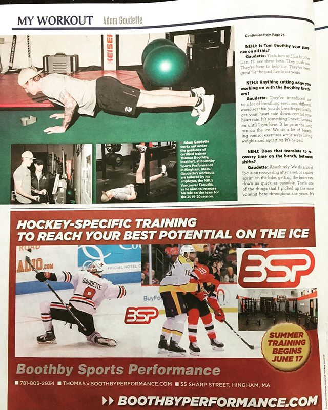 Good write up in the New England Hockey Journal. Enhance your game at Boothby Sports Performance. @hockey_gaud @lovell__hockey @newenglandhockeyjournal #BSP