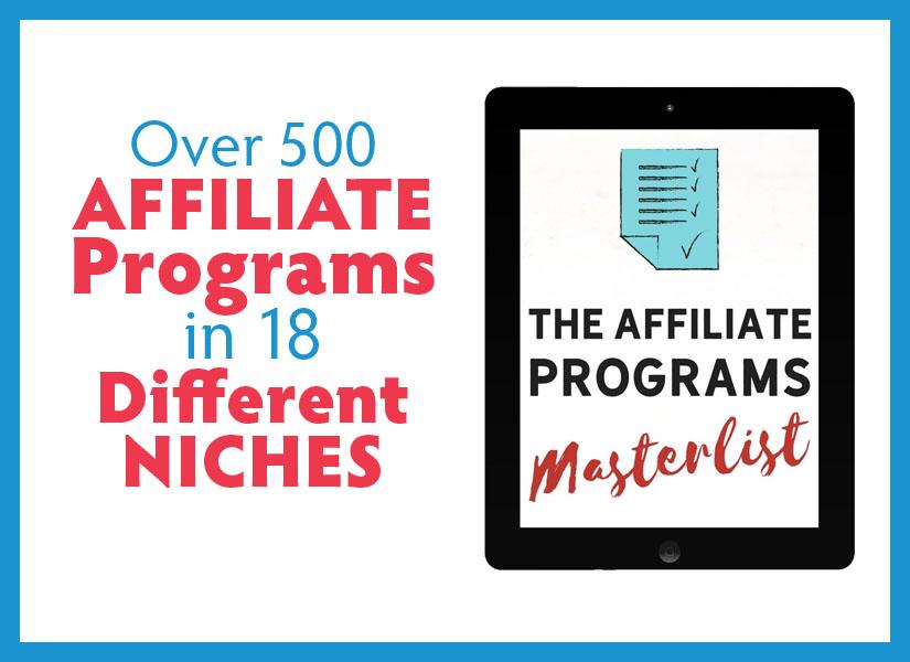 The Affiliate Programs Masterlist #affiliate #affiliateprograms #makemoneyonline
