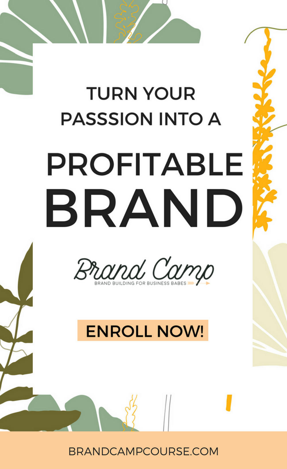 Brand Camp gives women the roadmap for building a business fueled with passion, purpose, and profit. You'll learn how to create a rock solid brand strategy that sets you up for long-term success. #marketing #womeninbusiness #brand #entrepreneur #business