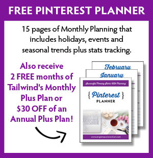 Free Pinterest Planner and receive two free months of Tailwind's monthly plus plan or $30 off an annual plus plan.