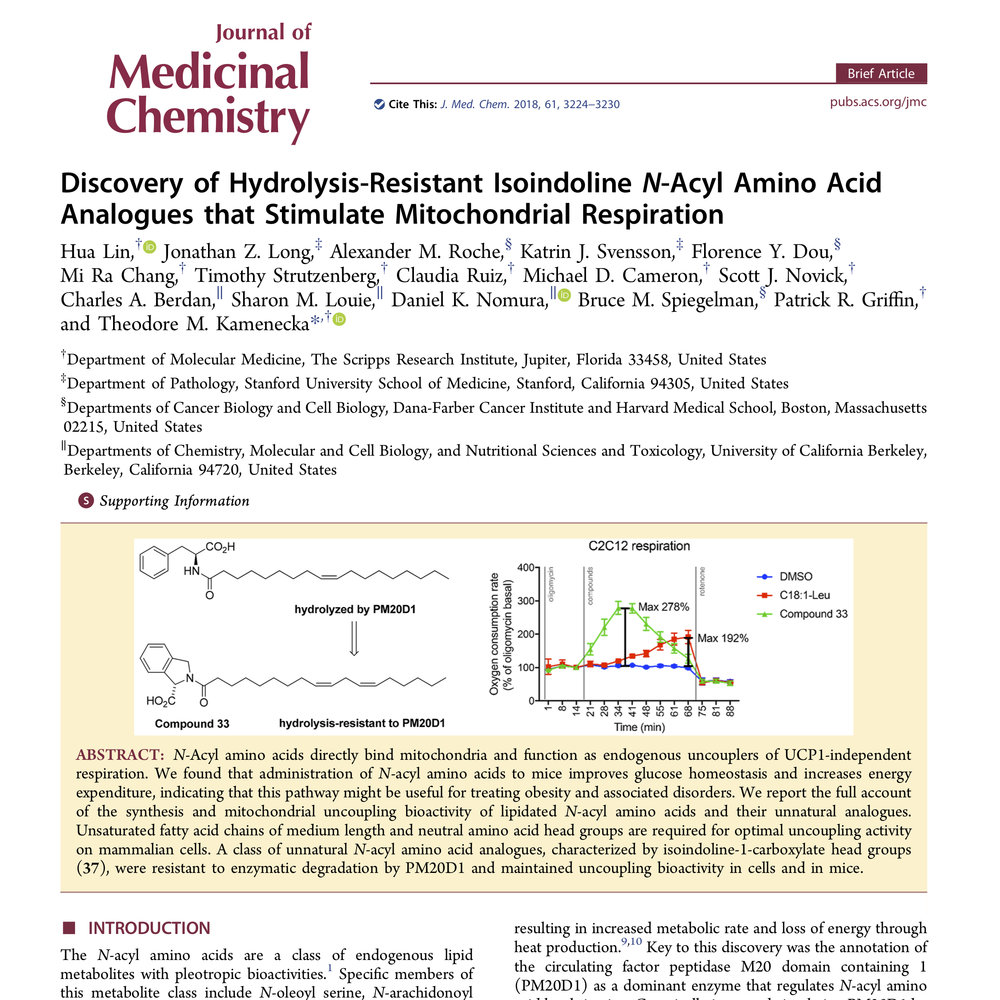 a new collaborative paper on unnatural n acyl amino acids longlab