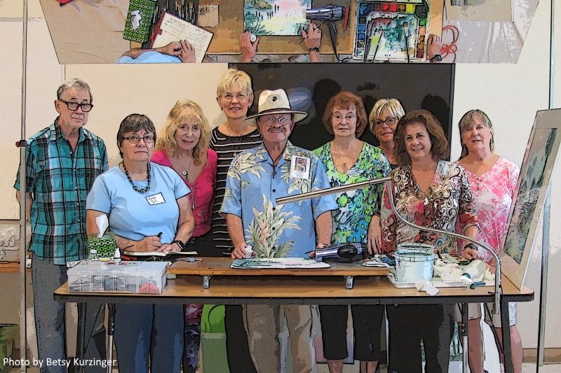Tom Jones (center with hat on) and the participants in the one day workshop.