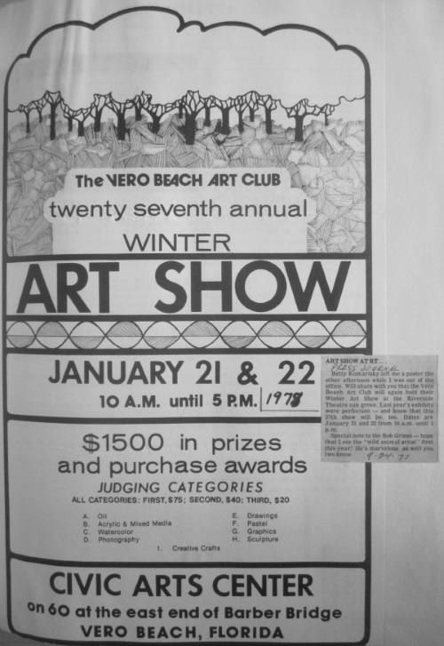 The Winter Art Show which later became Under the Oaks Fine Arts & Crafts Show