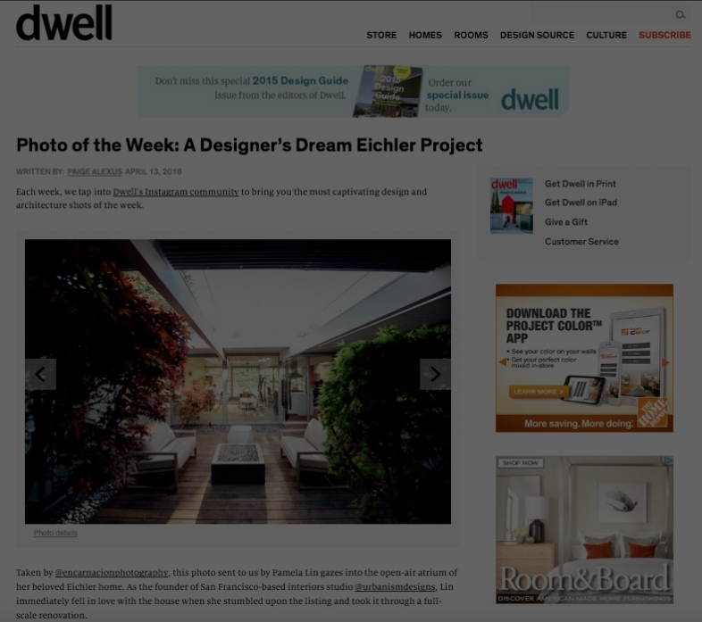 Dwell Feature - A Designer's Dream Eichler Project