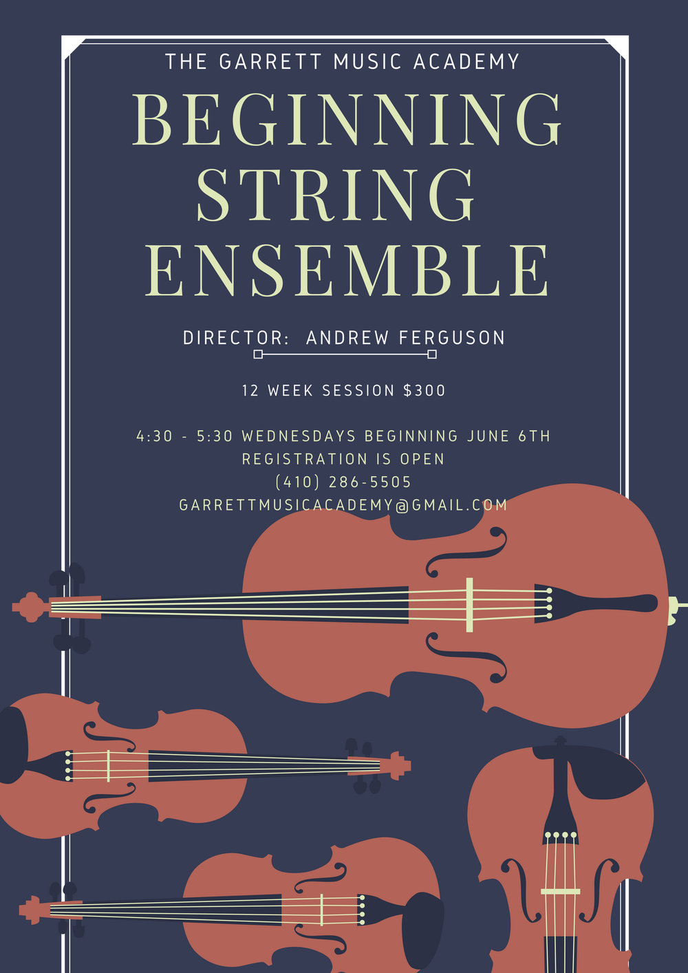 For our Beginning String students, play as a group - Dates TBD…