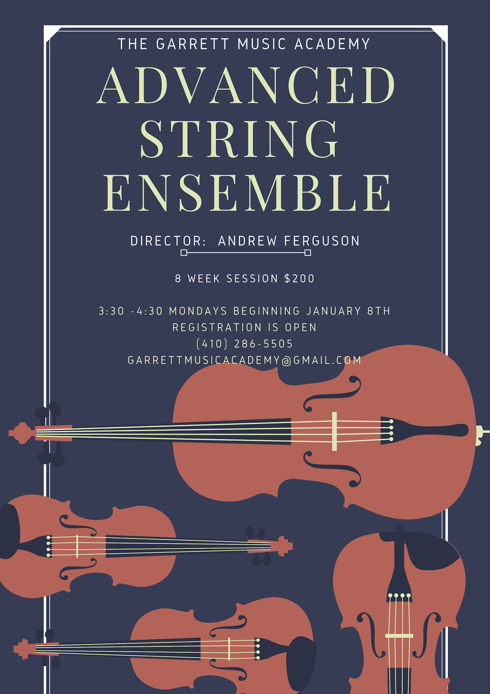 For our more advanced skills string students, accept the challenge... - REgistration is now open, the more the merrier...(410) 286-5505 or email garrettmusicacademy@gmail.com