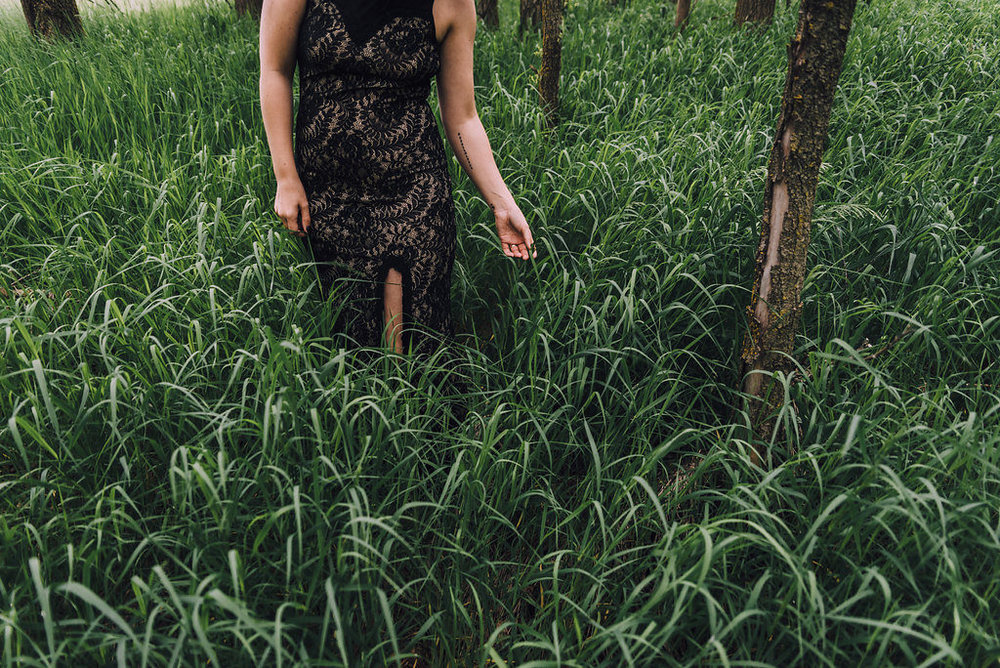 Woman walking in woods, Anniversary Session by Stewart Photography