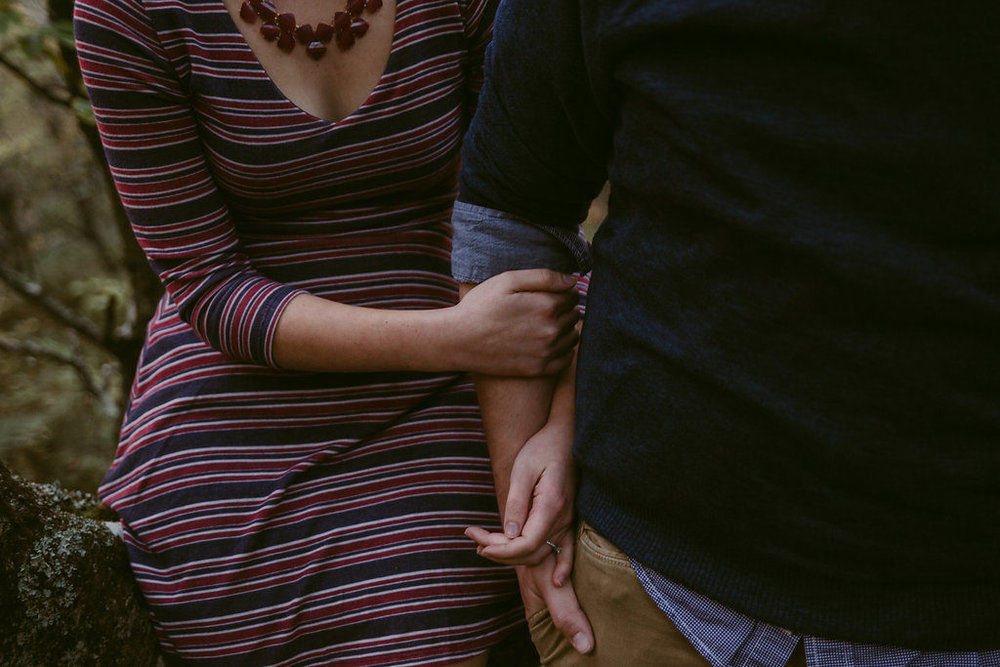 Holding hands, engagement session with Tessa Blackstone