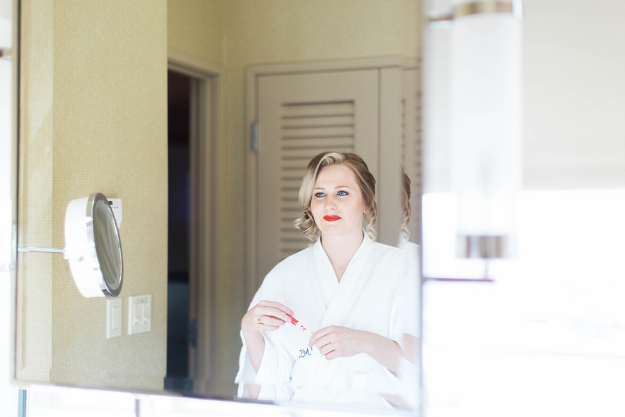 Ashley Giffin Photography Bride in Mirror
