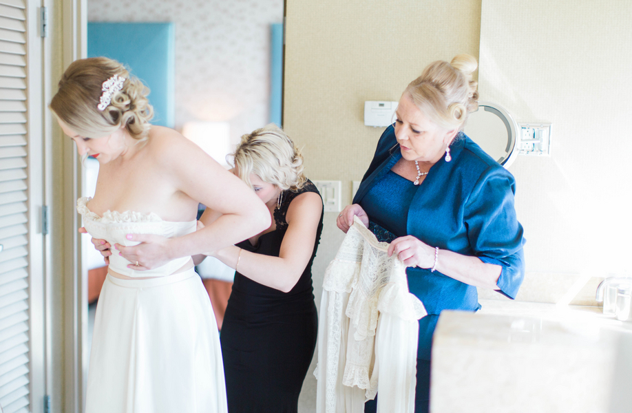 Ashley Giffin Photography Bride Getting Dressed