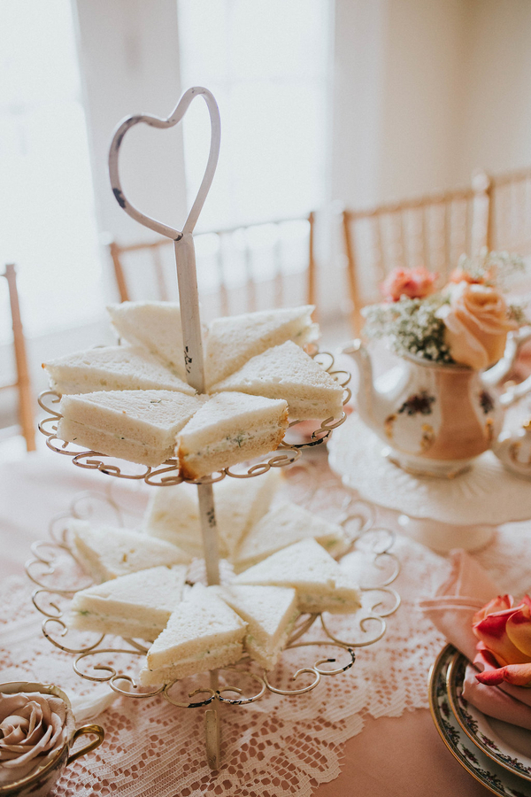 Sandwiches, Tea Party Themed Baby Shower | Kate Olsen Photography