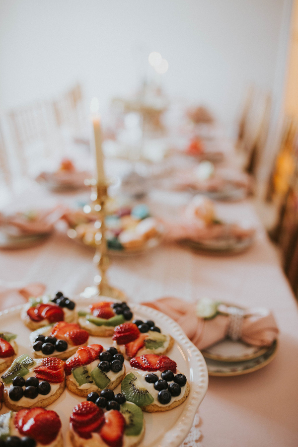 Tablescape detail, Tea Party Themed Baby Shower | Kate Olsen Photography