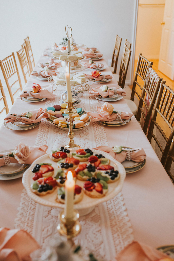 Details on table, Tea Party Themed Baby Shower | Kate Olsen Photography