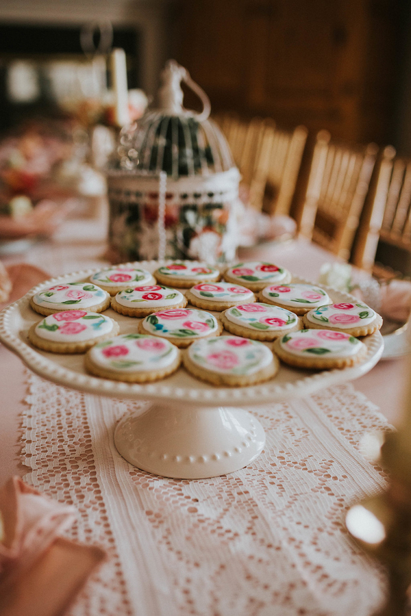 Floral cookies, Tea Party Themed Baby Shower | Kate Olsen Photography