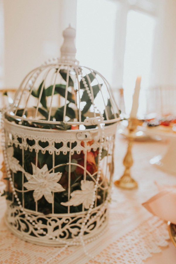 Birdcage detail, Tea Party Themed Baby Shower | Kate Olsen Photography