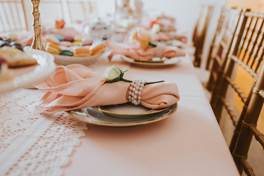 Plate detail, Tea Party Themed Baby Shower | Kate Olsen Photography