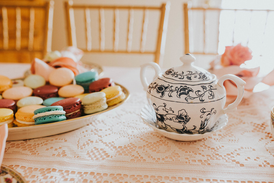 Teapot detail, Tea Party Themed Baby Shower | Kate Olsen Photography