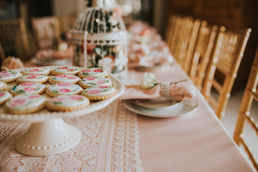 Tablescape, Tea Party Themed Baby Shower | Kate Olsen Photography