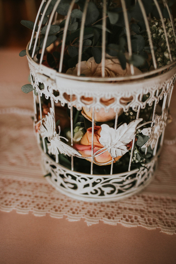 Roses in birdcage, Tea Party Themed Baby Shower | Kate Olsen Photography