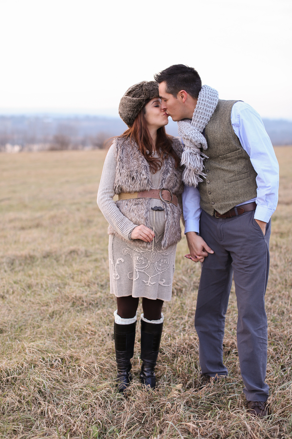 Couple kissing, Countryside + Sunset Baby Bump Session | Turnquist Photography