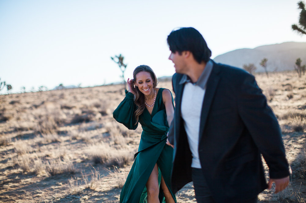 Couple smiling, Joshua Tree Anniversary Session | Lindsey Parkin Photography