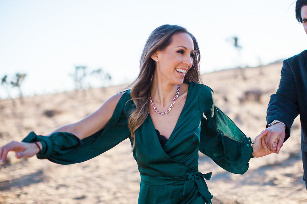 Woman smiling, Joshua Tree Anniversary Session | Lindsey Parkin Photography