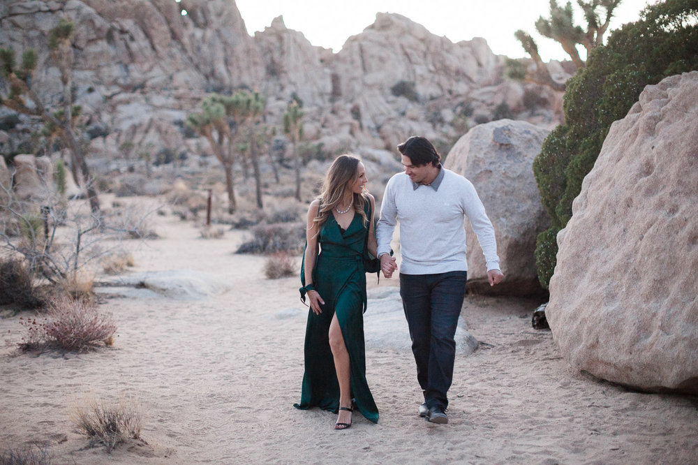 Couple walking, Joshua Tree Anniversary Session | Lindsey Parkin Photography