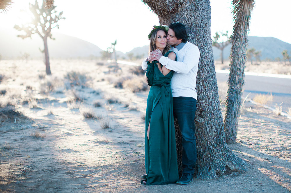 Couple hugging, Joshua Tree Anniversary Session | Lindsey Parkin Photography