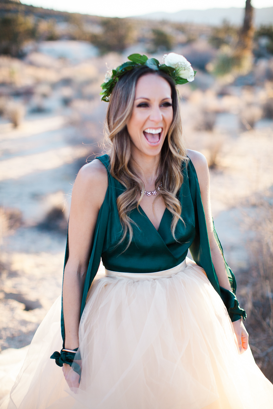 Woman laughing, Joshua Tree Anniversary Session | Lindsey Parkin Photography