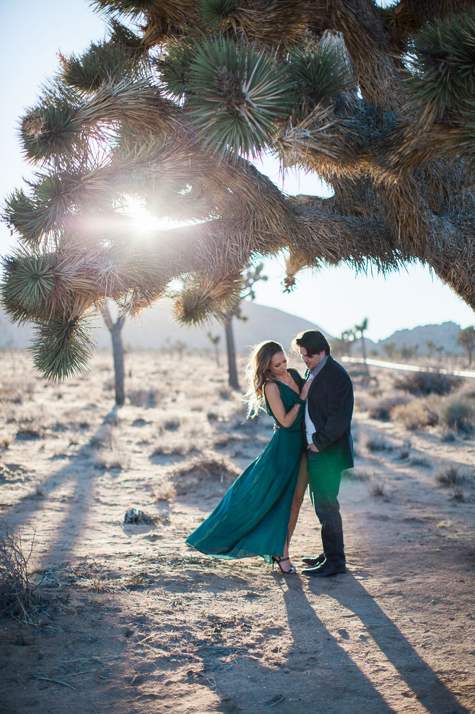 Couple under tree, Joshua Tree Anniversary Session | Lindsey Parkin Photography
