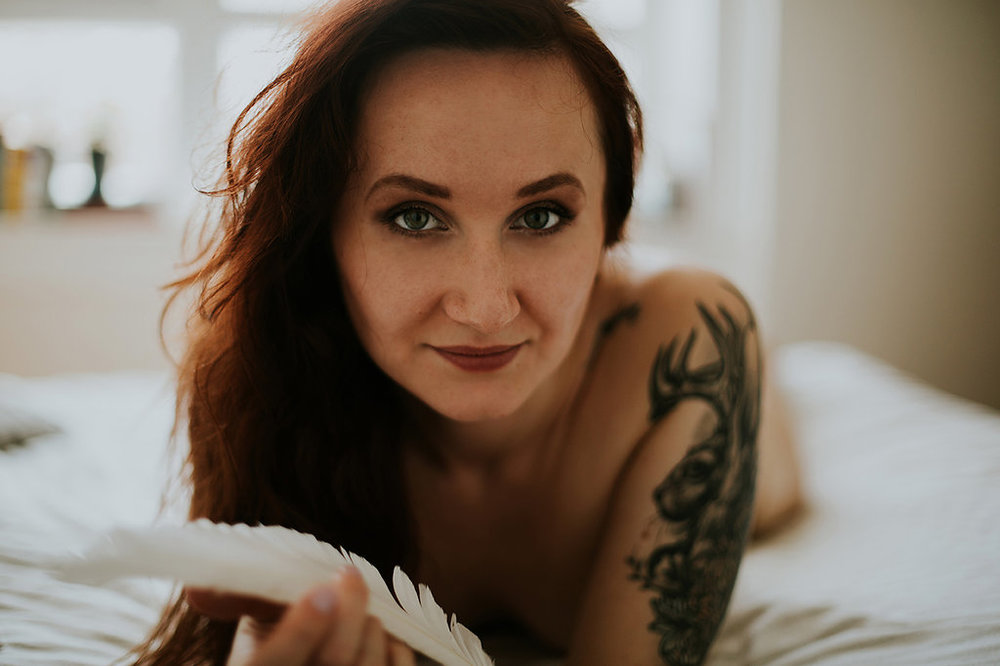 "Woman smiling, Showing Herself: ""FOR HER"" Boudoir Session 