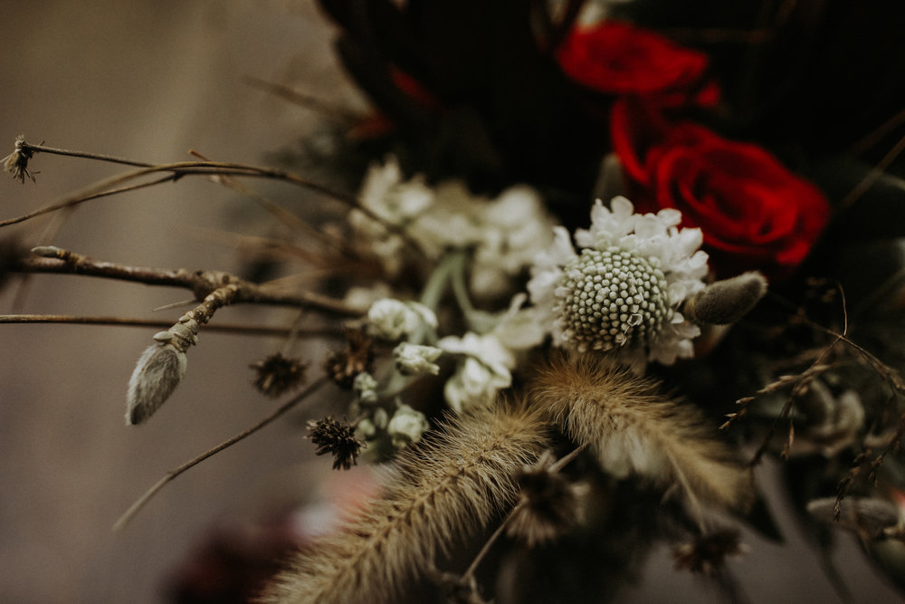 Bridal bouquet, Friday the 13th Intimate Wedding | Brandy Swartz Photography