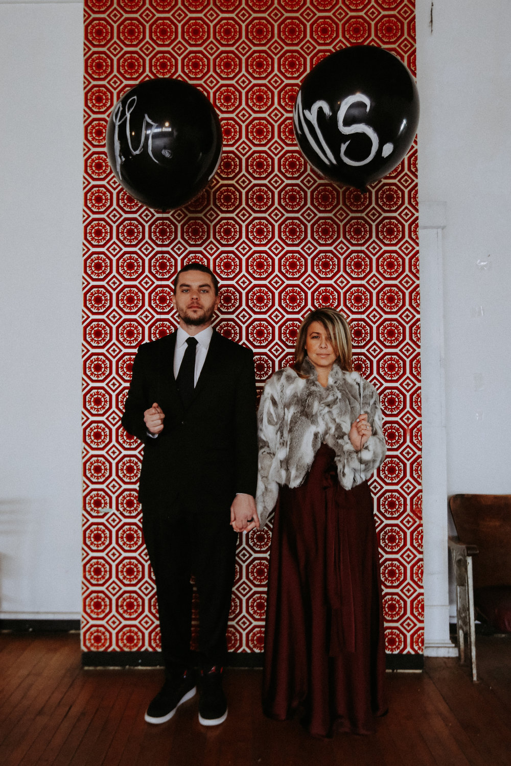 Mr and Mrs Balloon, Friday the 13th Intimate Wedding | Brandy Swartz Photography