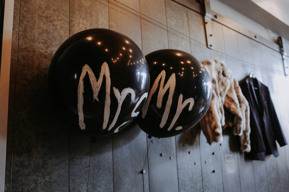 Mrs and Mr Balloons, Friday the 13th Intimate Wedding | Brandy Swartz Photography