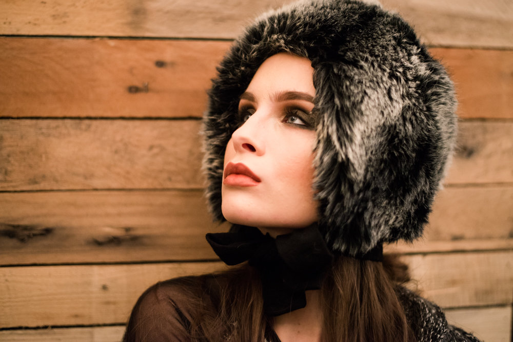 Babe with fur hat, Winter Styled Shoot | Marina Claire Photography