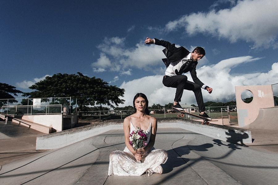 Skate Park Wedding Session 3