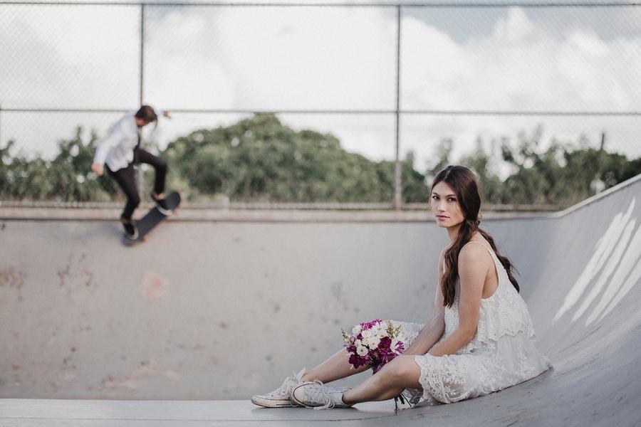 Skate Park Wedding Session