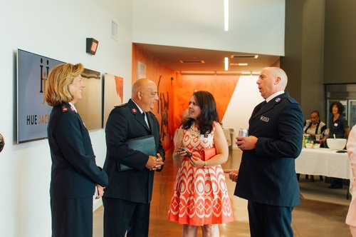 Beau Hill, far right, at the launch of The Hue Jackson Foundation (Lylah Rose Wolff Photography)