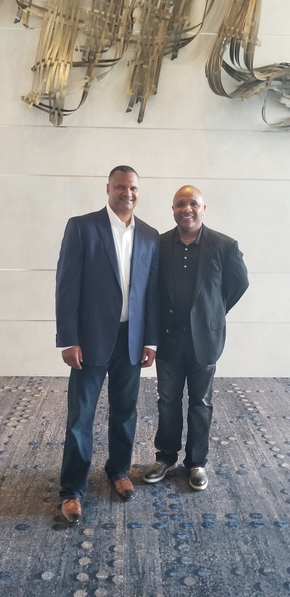 Dective John Morgan, Special Advisor and Hue Jackson May 2018.jpg