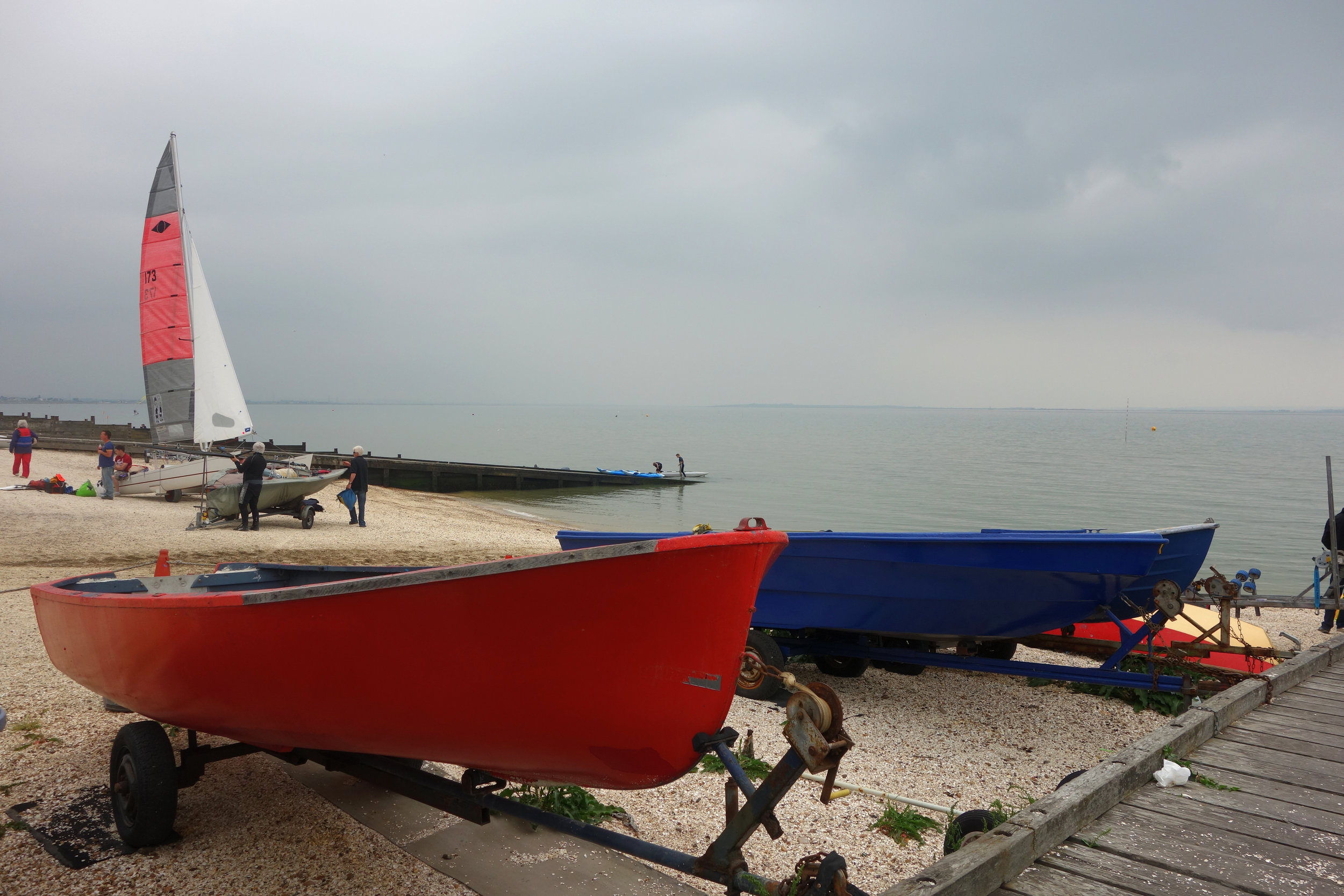 Boats on Whitstable beach