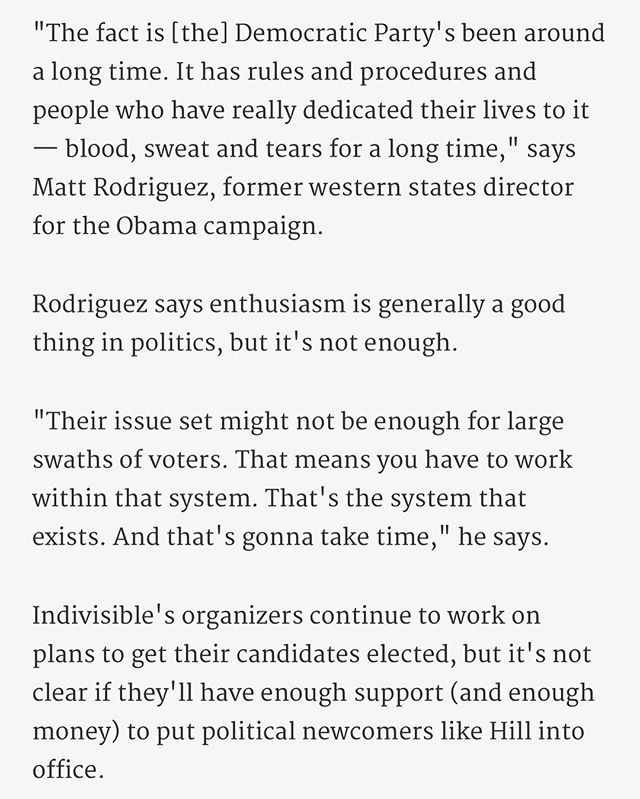 """Some quotes from our CEO Matt Rodriguez in @kpcc's article: """"SoCal progressives are growing in numbers - but can they get a candidate elected?"""" @taketwoshow 🇺🇸"""