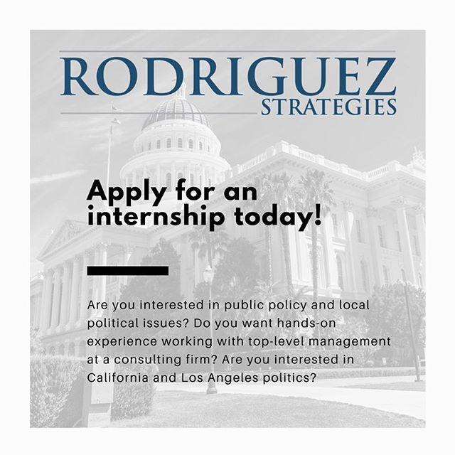 Link in bio! Apply to intern with Rodriguez Strategies this fall 💻